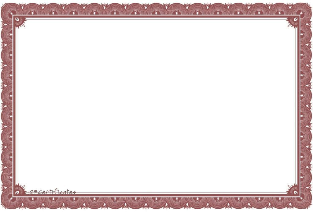 High Resolution Award Template Borders | Blank Certificates