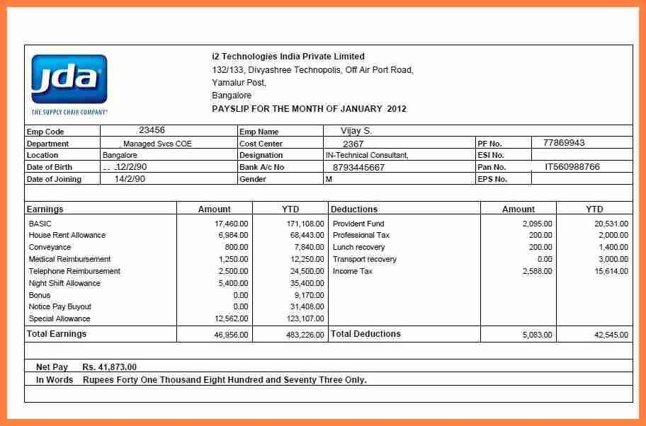 Payslip Template Word Document - Contegri.com