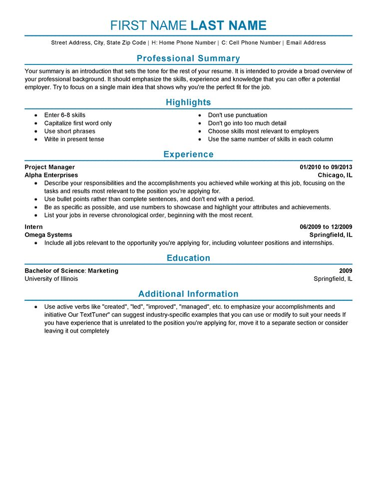 resume example experience resume types and samples resume