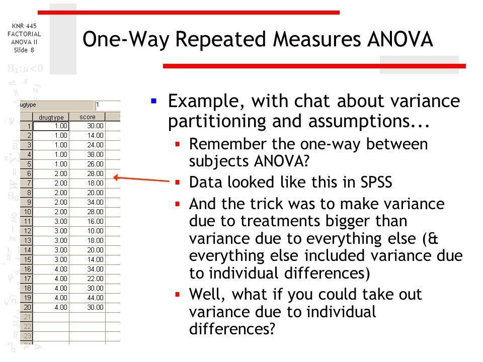Repeated Measures ANOVA - ppt video online download