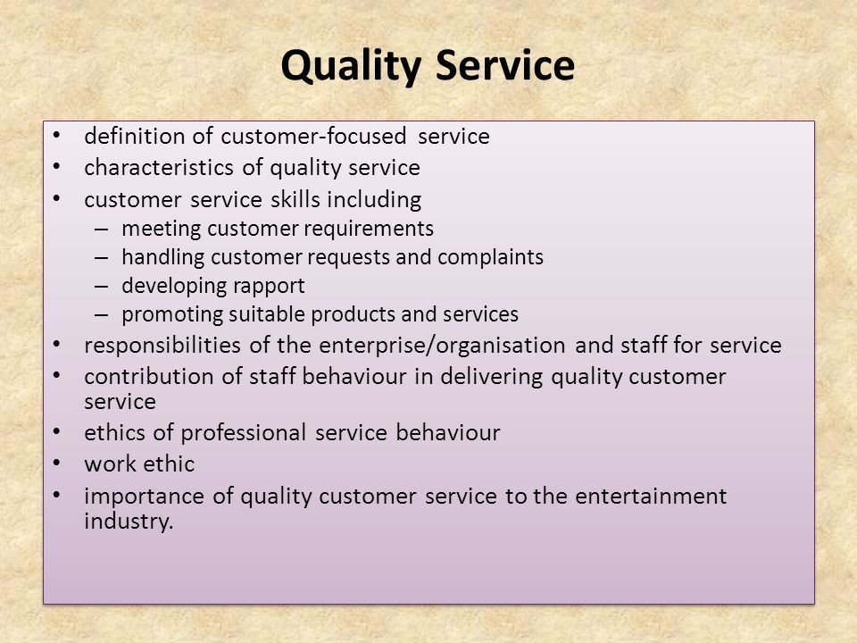 Provide quality service to customers - ppt video online download