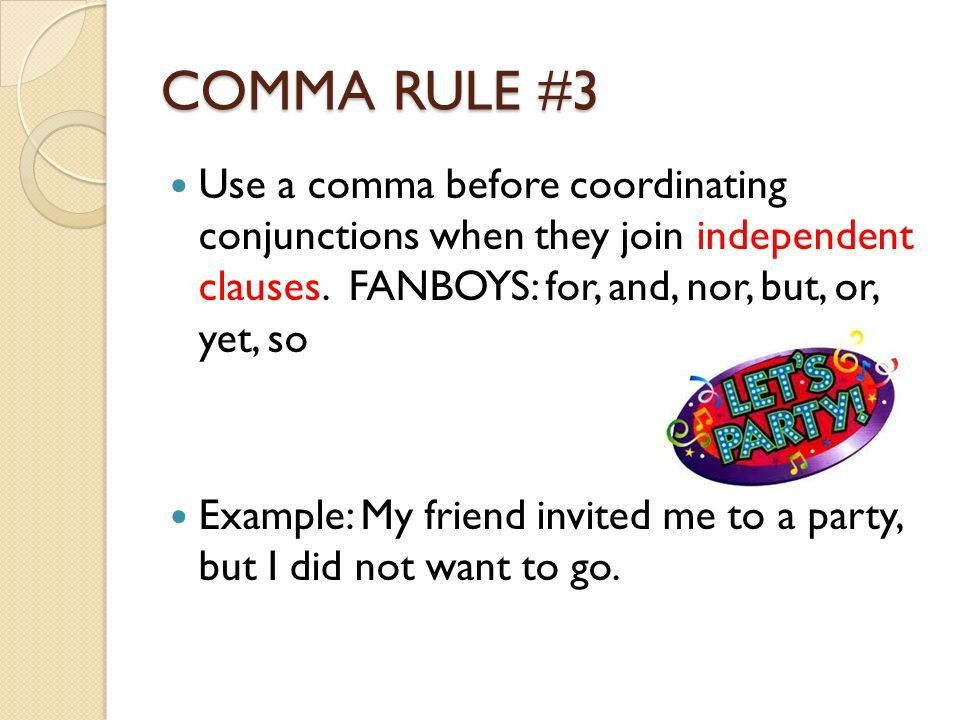 PUNCTUATION RULES COMMAS COLON SEMICOLON Adapted from Sharon ...
