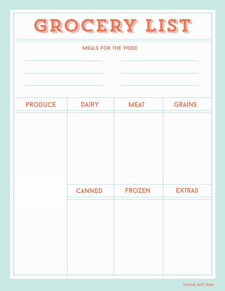 Yli tuhat ideaa: Printable Shopping List Pinterestissä | Tulosta ...