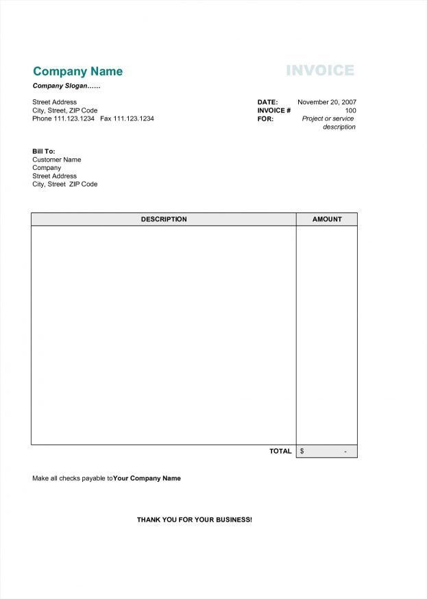Invoice Printable Free Flyer Templates Word Yearly Forms ...