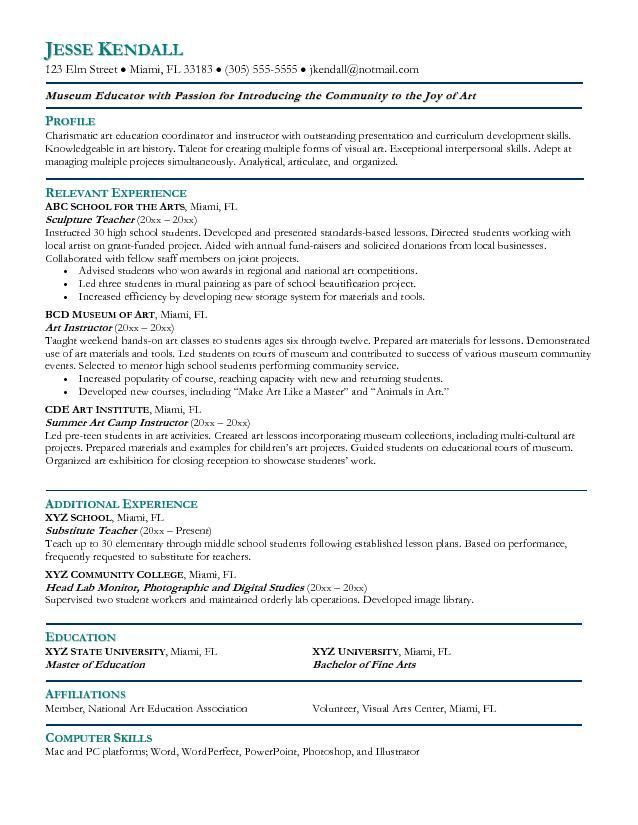 art resume template create resume template artist resume sample ...