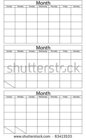 Blank Calendar Template Stock Images, Royalty-Free Images ...