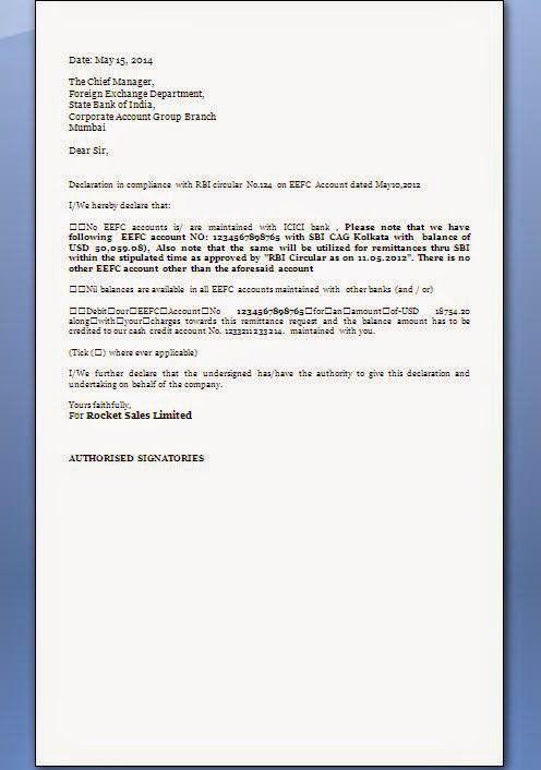 FEMA Declaration Letter Format   citehrblog
