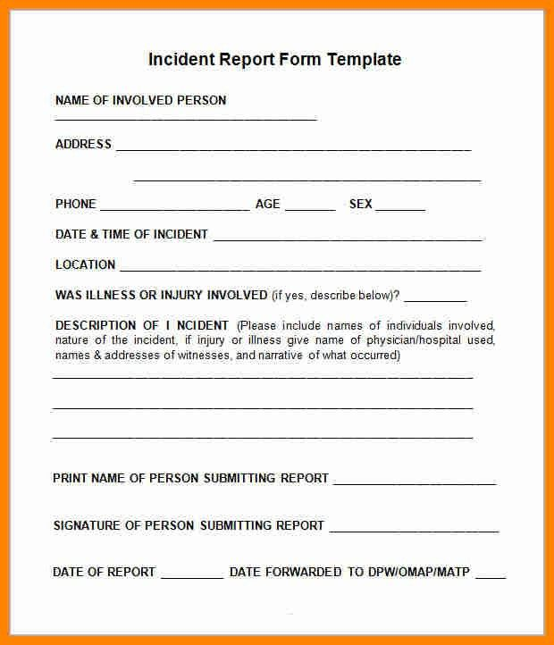 Incident Report Letter Format  Incident Report Sample Marital