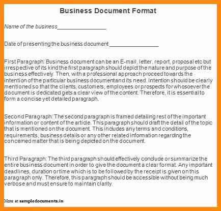 Professional business report example