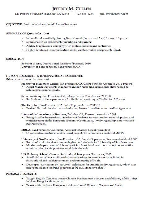 Chronological Resume Format - uxhandy.com