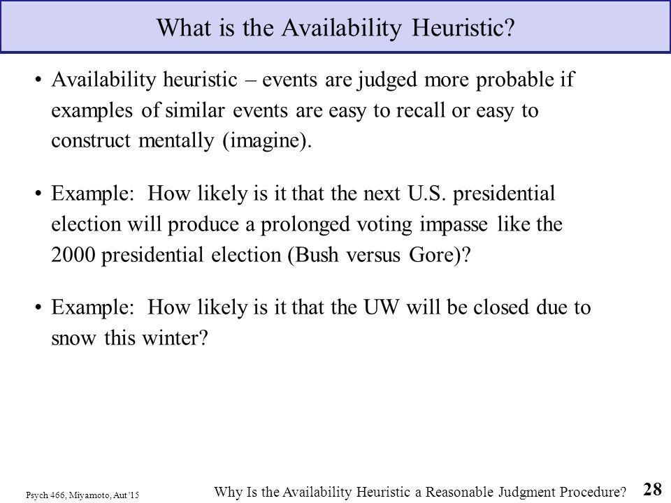 Heuristics & Biases: The Anchoring & Adjustment & Availability ...