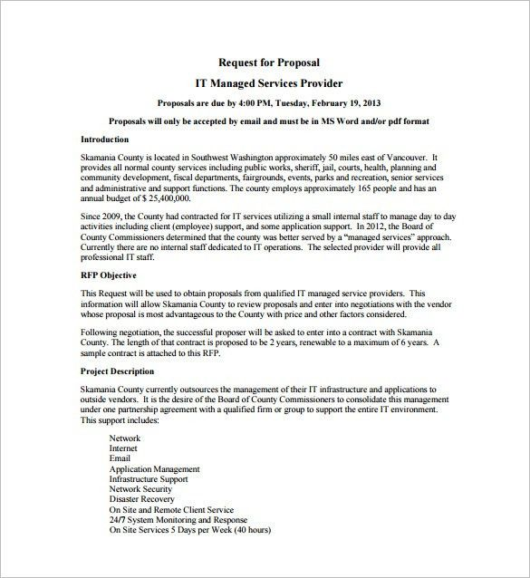 Service Proposal Template. Printable Sample Business Proposal ...