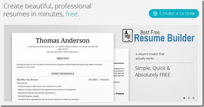 about best free resume builder