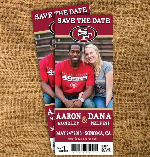 Sports team Save the Date....they're printable so you could ...