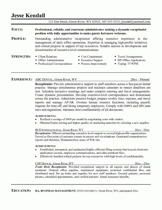 Receptionist Resume Sample 2016: What to Write and What to Skip ...