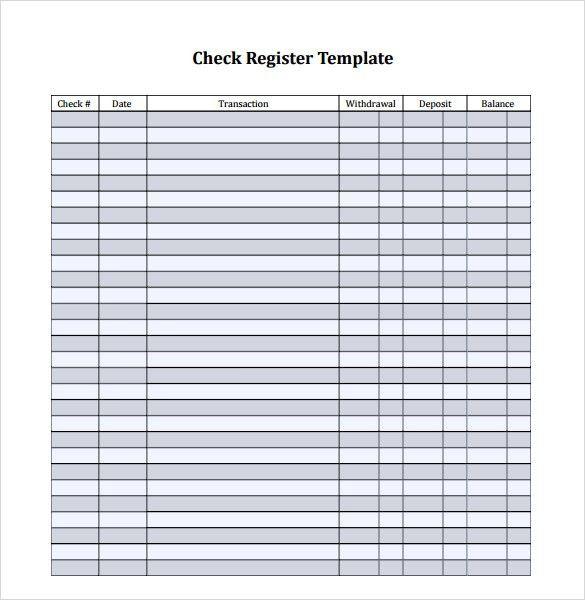Check Register Template | doliquid