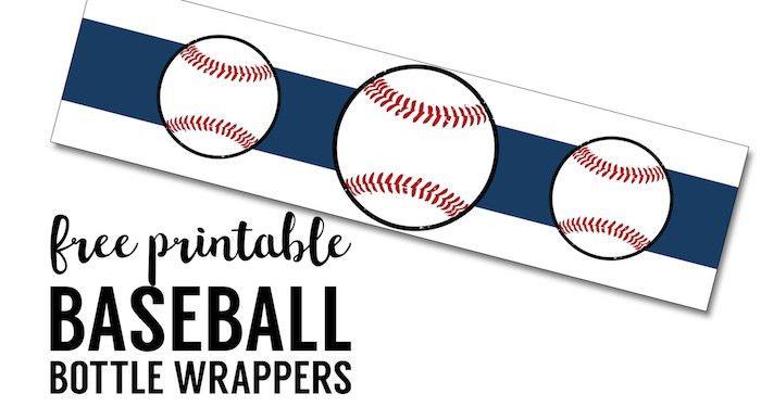 Free Printable Baseball Water Bottle Labels - Paper Trail Design