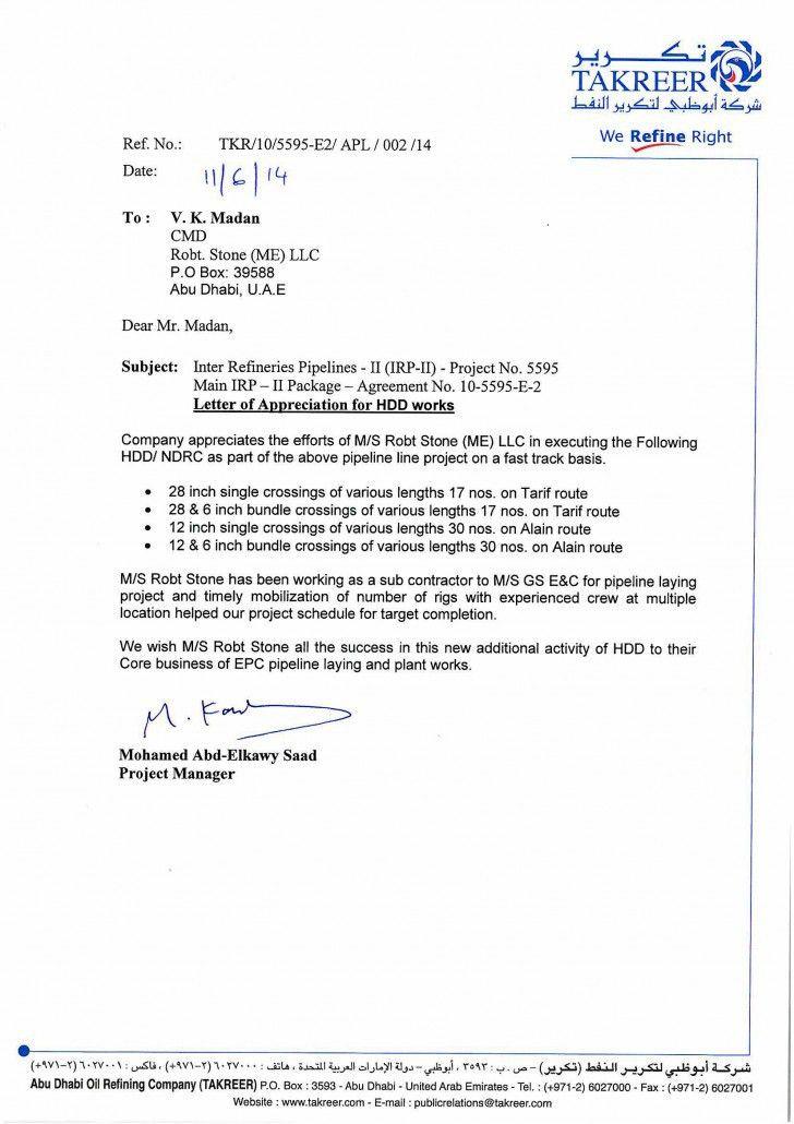 Project completion letter project confiration letter sample robtstone awards recognitions spiritdancerdesigns Images