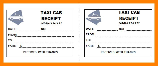 Beautiful Taxi Bill Format In Word Contemporary - Best Resume ...
