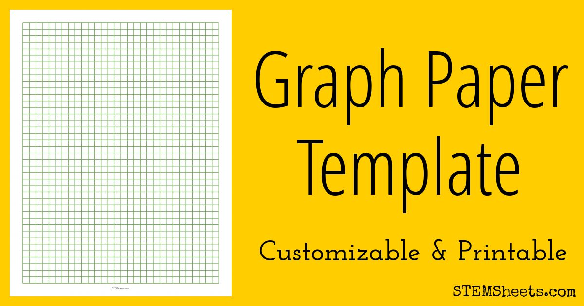 Graph Paper Template | STEM Sheets