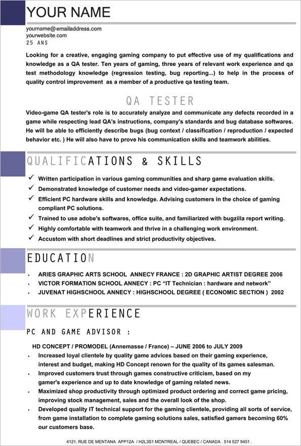qa tester resume samples how to become a video game tester game
