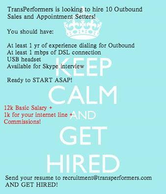 Outbound Sales and Appointment Setters