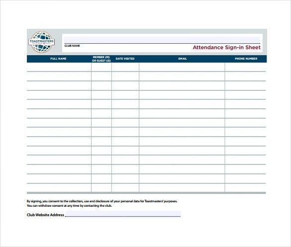 12+ Attendance Sheet Templates – Free Sample, Example, Format ...