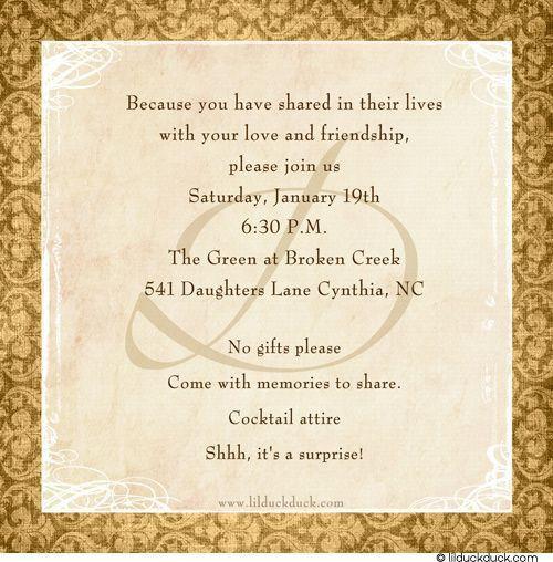 25+ best Anniversary invitations ideas on Pinterest | Anniversary ...