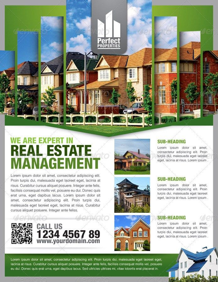 Simple Real Estate Flyer Vol.01 by kitcreativestudio | GraphicRiver