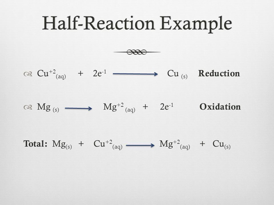 Balancing Redox Reactions from Half-Reactions - ppt video online ...