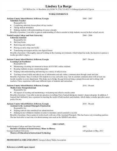 paraeducator resume sample merchandise assistant cover letter ...
