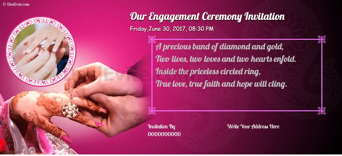Free Hindu-Engagement-Invitation-Cards Invitation Card & Video ...