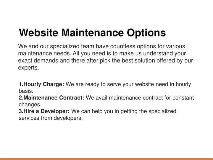 PPT - Website Maintenance & Management PowerPoint Presentation ...