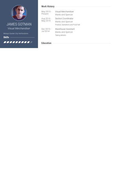 Visual Merchandiser Resume samples - VisualCV resume samples database