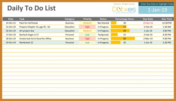 daily to do list template   notary letter