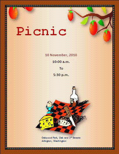 Picnic Flyer | Free Business Templates