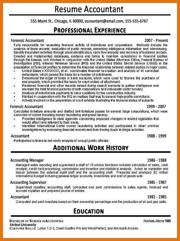 accounting resume examples | letter format business