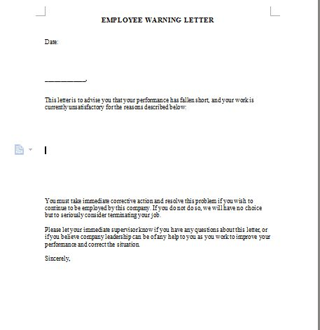 Warning Letter Template