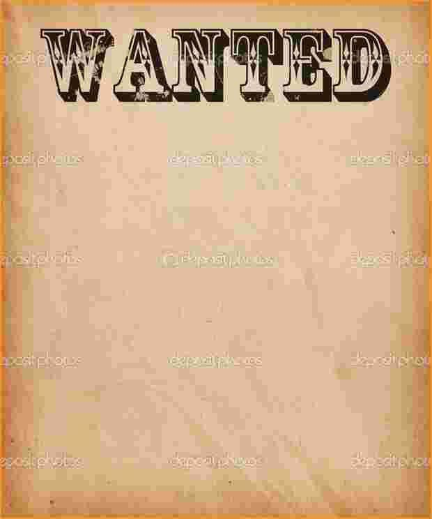 Wanted Poster Templates.most Wanted Poster Template.jpg ...
