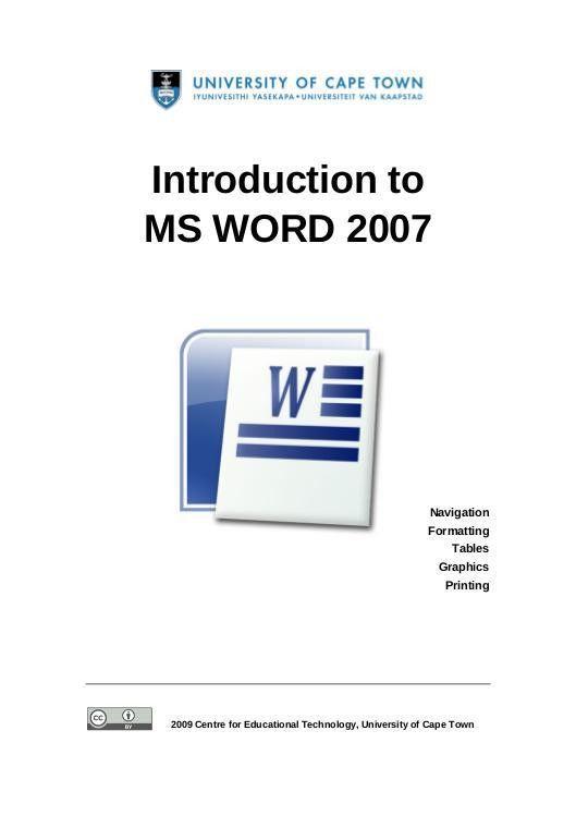 Microsoft Word - Cet Ms Word 2007 Training Manual v1.2.doc - Raadaa