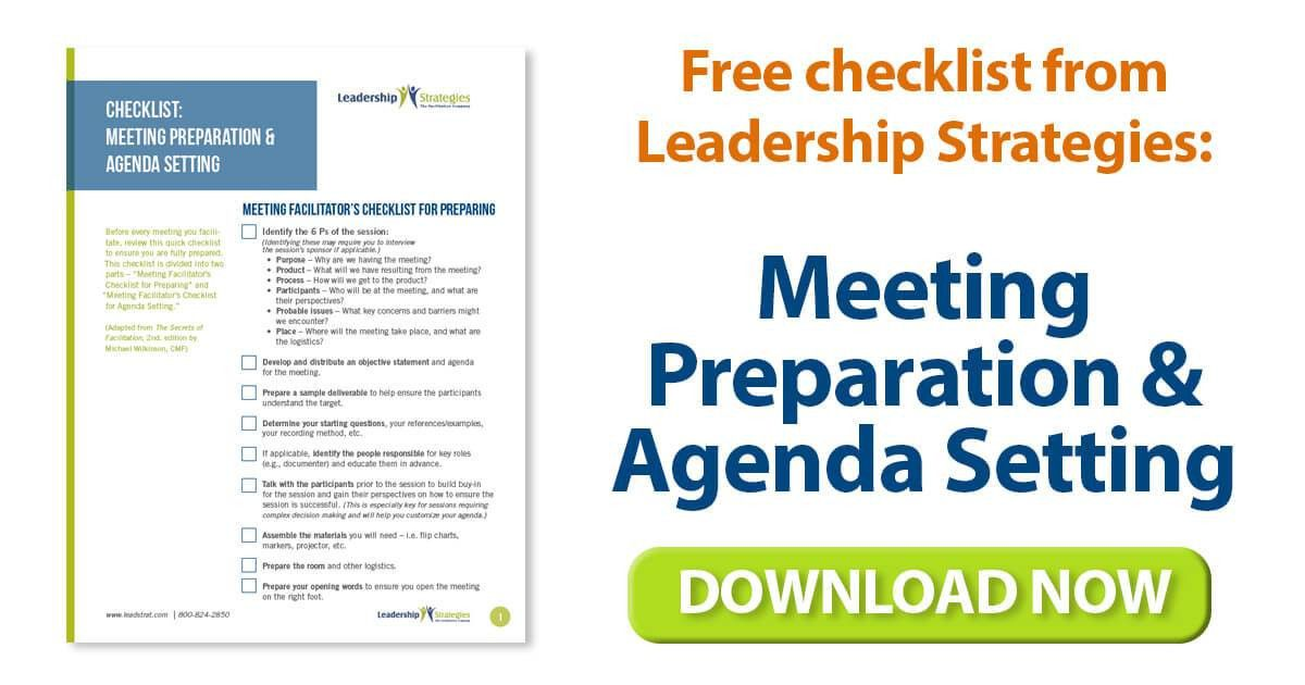 Leadership Strategies » Blog Archive Template for Meeting Agenda ...