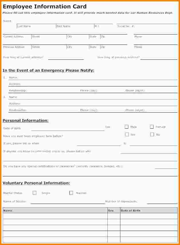 11+ employee information template | nypd resume