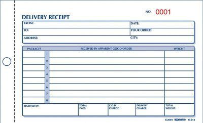 "Rediform® Carbonless Delivery Receipt Books, 4-1/4"" x 6-3/8"", 2 ..."
