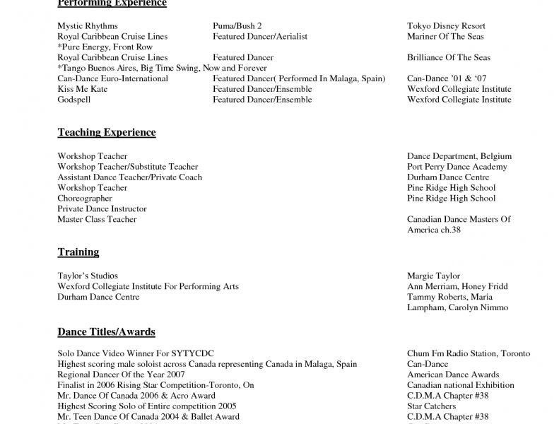 Luxury Ideas Resumes By Tammy 15 Dance Resume - Resume Example