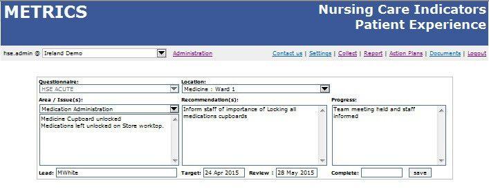 Nursing & Midwifery Quality Care-Metrics (QC-M) - eHealth Ireland