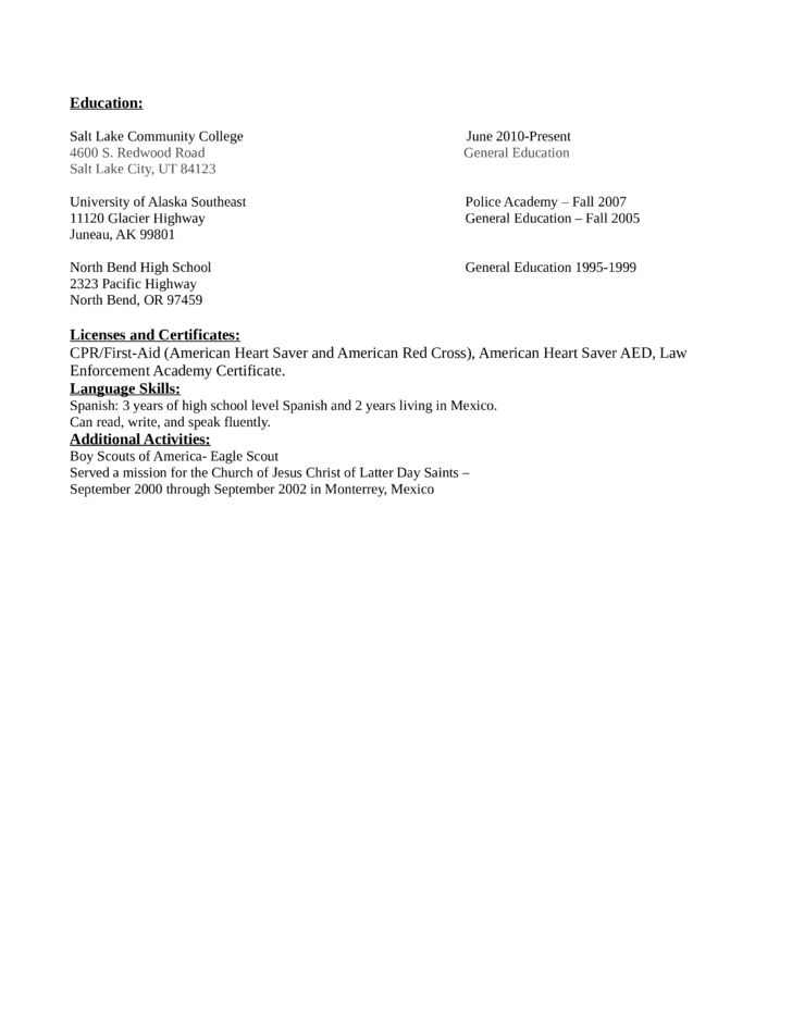 Professional Lead Asset Protection Associate Resume Template | page 2