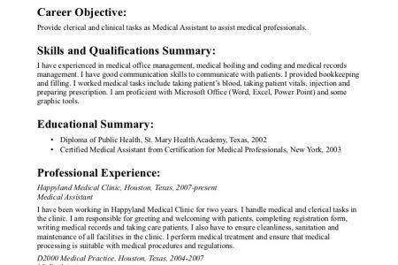 Sample Resume: Medical Assistant Resume For Externship, Medical .