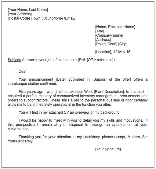 storekeeper cover letter sample - http://exampleresumecv.org ...