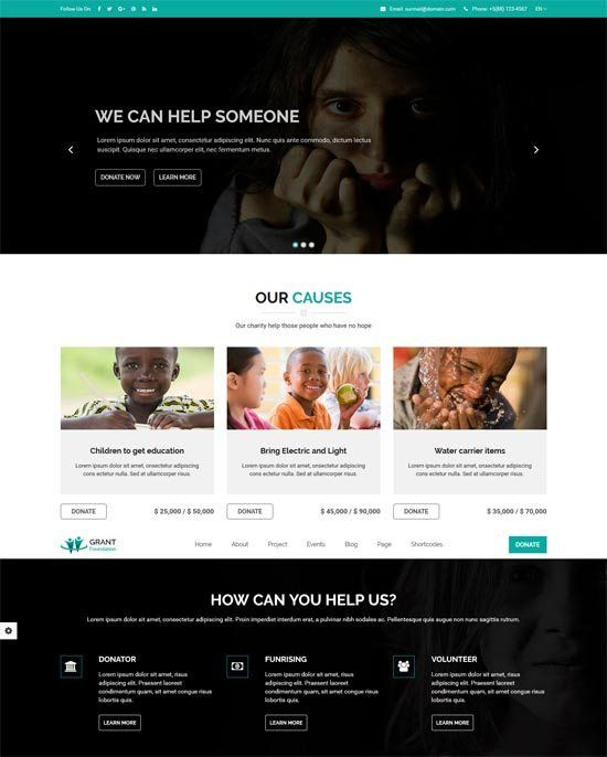 50+ Best Charity Website Templates Free & Premium - freshDesignweb
