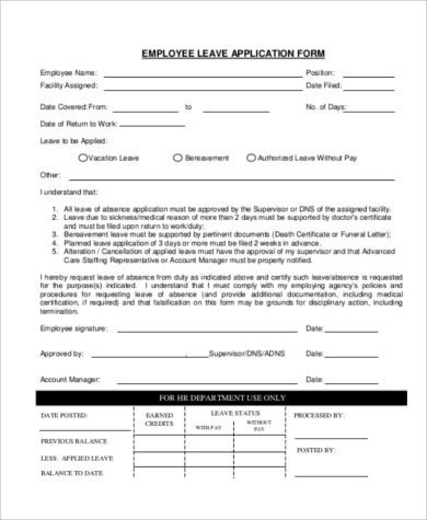 Sample Employee Application Form - 10+ Examples in PDF, Word